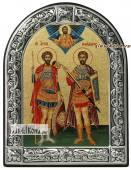 Два святых Федора икона с рамкой
