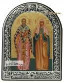 Киприан и Устинья икона с рамкой