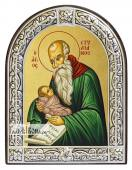 Стилиан преподобный икона с рамкой
