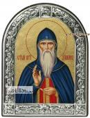 Дамиан Печерский, икона шелкография с латунной рамкой