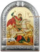 Георгий Победоносец икона с рамкой