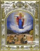 Августовская Божия Матерь икона в ризе артикул 42800