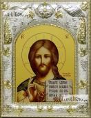 Господь Вседержитель с Библией икона в ризе артикул 42808