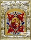 Неопалимая Купина Божия Матерь икона в ризе артикул 42819