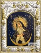 Остробрамская Божия Матерь икона в ризе артикул 42822
