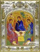 Троица Пресвятая Рублева икона в ризе артикул 42832