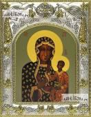 Ченстоховская Божья Матерь икона в ризе артикул 42834
