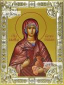 Анастасия Узорешительнца икона в посеребренной ризе 18х24 см
