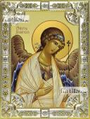 Ангел Хранитель икона в посеребренной ризе 18х24 см