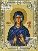 Ангелина Сербская икона в посеребренной ризе 18х24 см