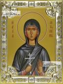 Антонина Никейская, икона в посеребренной ризе, 18х24 см