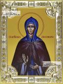 Аполлинария Египетская, икона в посеребренной ризе, 18х24 см