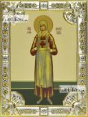 Аполлинария Тупицына икона в посеребренной ризе 18х24 см