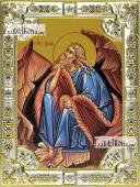 Илия пророк икона в посеребренной ризе 18х24 см