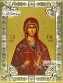 Ирина Коринфская, икона в посеребренной ризе, 18х24 см.
