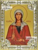Лариса Готфская, икона в посеребренной ризе, 18х24 см.