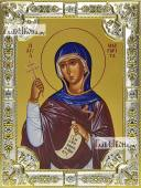 Маргарита Антиохийская икона в посеребренной ризе 18х24 см
