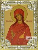 Мария Магдалина икона в посеребренной ризе 18х24 см