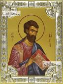 Марк апостол икона в посеребренной ризе 18х24 см