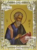 Матфей апостол, икона в посеребренной ризе, 18х24 см.