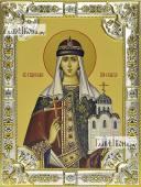 Ольга равноапостольная икона в посеребренной ризе 18х24 см