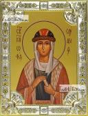София Слуцкая, икона в посеребренной ризе, 18х24 см.