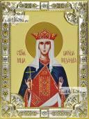 Александра Римская икона в посеребренной ризе 18х24 см