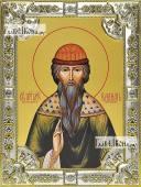Вадим Персидский икона в посеребренной ризе 18х24 см