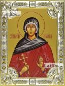 Валерия Кесарийская, икона в посеребренной ризе, 18х24 см.