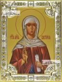 Виктория Ника Коринфская икона в посеребренной ризе 18х24 см