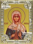 Вевея (Вивея) Едесская, икона в посеребренной ризе, 18х24 см.