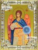 Гавриил архангел икона в посеребренной ризе 18х24 см