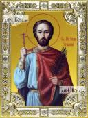 Иоанн Сочавский икона в посеребренной ризе 18х24 см
