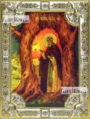 Тихон Медынский (Калужский), икона в посеребренной ризе, 18х24 см.