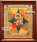 Неопалимая Купина аналойная икона в темном киоте