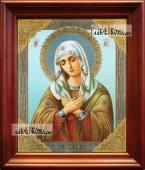Умиление Божия Матерь, аналойная икона в темном киоте