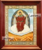 Спорительница хлебов аналойная икона в темном киоте