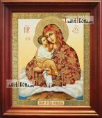 Почаевская Божия Матерь аналойная икона в темном киоте