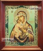 Феодоровская Божия Матерь аналойная икона в темном киоте