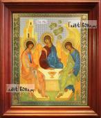 Троица, аналойная икона в темном киоте