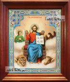 Господь Вседержитель на троне аналойная икона в темном киоте