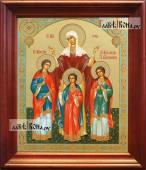 Вера, Надежда, Любовь, Софья - аналойная икона в деревянном киоте