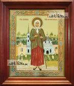 Ксения Петербургская, большая аналойная икона в деревянном киоте