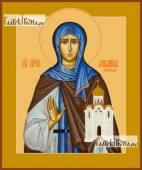 Ангелина Сербская, икона на дереве печатная