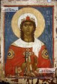 Варвара великомученица - икона на дерева печатная копия старинного образа