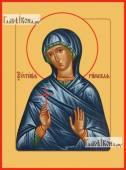 Евгения Римская икона на дереве печатная