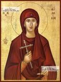 Евдокия Илиопольская, икона на дереве печатная