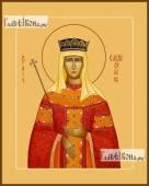 Елена Сербская икона на дереве печатная