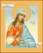 Ирина великомученица с голубем икона на дереве печатная
