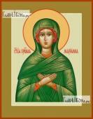 Мариамна праведная икона на дереве печатная
